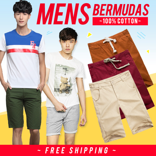 [MENS CHOICE] Men Bermudas | Mens Polo | Men Tees | 100% Cotton | Shorts| Quality Guaranteed Deals for only S$49.9 instead of S$0
