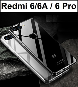 Daily Deal ☆ Xiaomi Redmi 6 / 6A / 6 Pro Transparent Crystal Clear Case Casing Tempered Glass Screen Protector