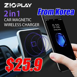 ZIOPLAY Car Wireless Charger[Dashboard/Air Vent]Car Mount Phone Holder Wireless Magnetic Car Charger