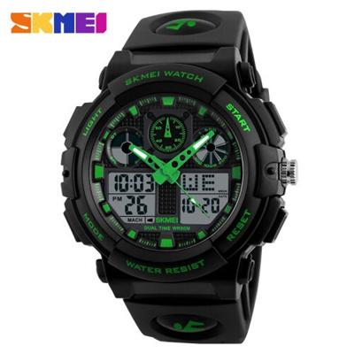 SKMEI Jam Tangan Analog Digital Pria Water Resistant AD1270 - Black Green efbdd71888