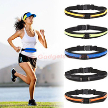 SINGLE DOUBLE Zipper Running Sport Pouch Belt Waist Bag Elastic Stretchable Waterproof Exercise Gym