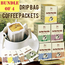 BUNDLE OF 4! COFFEE DRIP BAG /TEA -No sugar Preservative Added. HEALTHYDELICIOUS.BEST SELLING IN SG