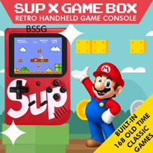 Sup X Game Box Retro Handheld Game Console Emulator Built-in 168 Old Time Classic Games
