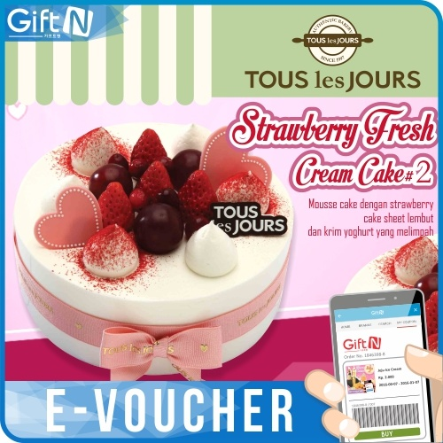 buy tous les jours strawberry fresh cream cake 2 deals for only instead of. Black Bedroom Furniture Sets. Home Design Ideas