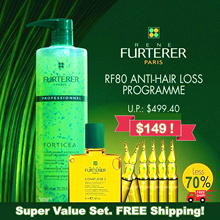 ★Bundle Deal★ RENE FURTERER RF 80 | TRIPHASIC Hair Loss n Strengthening Treatment Value pack!