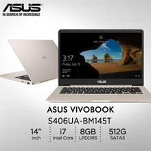 ASUS S406UA-BM145T/ Intel® Core™ i7-8550U processor 1.8 GHz/ 2 year international warranty