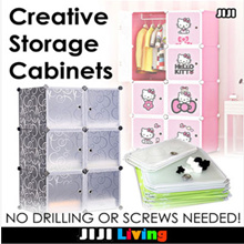 ★Wardrobe ★Creative Storage Cabinets ★DIY ★Stackable★Bedside Table ★Hello Kitty ★Organizer