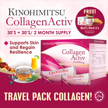 Kinohimitsu Collagen Activ Powder 30sx2 (2 MONTH SUPPLY) TRAVEL FRIENDLY Mix with Anything