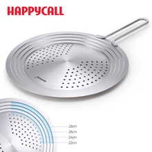 Happycalll frying pan wok stainless multi cover Lid 22cm ~ 28cm