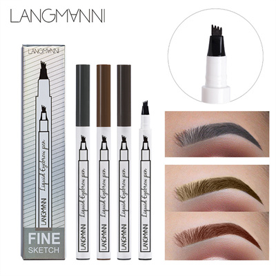 1pc Eyebrow Waterproof Fork Tip Eyebrow Pencil Tattoo Pen Wenkbrauw Tattoo Pen Enhancer Tint Korean