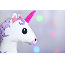 Unicorn Plush Pillow • Emoji • Christmas • Cushion • Present • Gift