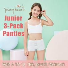Kids Junior Pack of 3 Multi-pack Panties Series SUPER SOFT COTTON 14 Designs