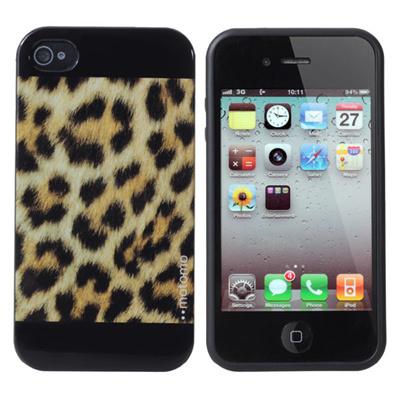 Leopard Grain Pattern Defender TPU Soft Case For iPhone4 4S