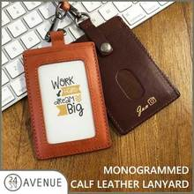 [24 AVENUE] CUBE/MONOGRAMMED CALF LEATHER LANYARD /PERSONALIZED GIFT
