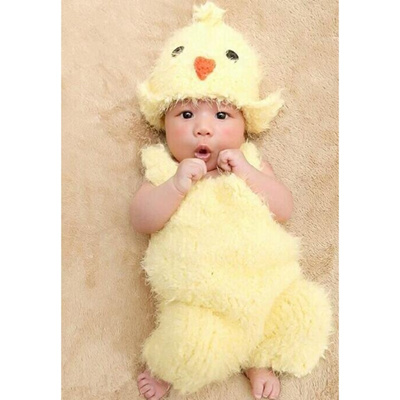 391a87d3c391b Newborn Baby Photography Prop Infant Lovely Chicken Hat Suspenders Outfits  gifts