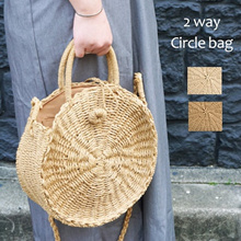 Handmade Rattan women Round Handbag Vintage Retro Straw Knitted Messenger Bags Ladies bag Tote bag