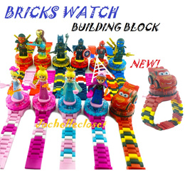 New! Brick Watch Building Blocks Watch Projection Watch Goodies Bag Birthday Party Gifts