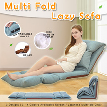MULTI-FOLD Lazy Sofa Chair! ★Floor Chair ★Foldable Chair ★Fiber ★Sofabed ★Beanbag