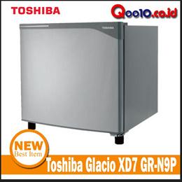 Toshiba Kulkas Mini Portabel Glacio XD7 GR-N9P - Silver