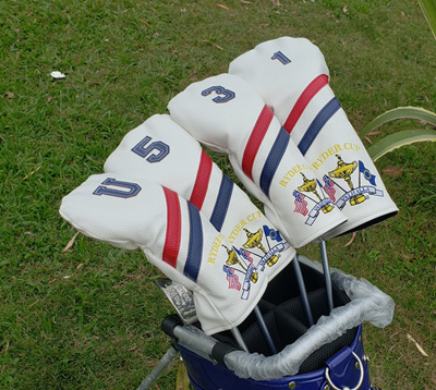 e0af41bcab1 PU Leather Golf Complete Sets Headcovers Driver Fairway Woods Hybrid Irons  4-9PAS High Quality