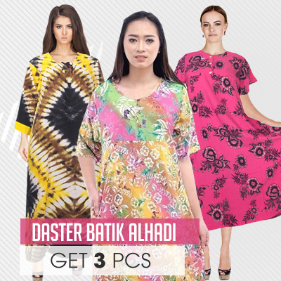 GET 3 Batik Long Dress Collections Deals for only Rp198.000 instead of Rp198.000