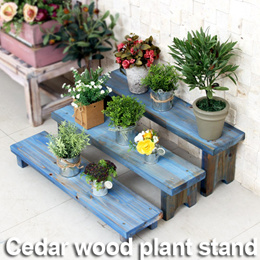 Mini Wood Plant Display Stand★5 Colors 3 type Natural Vintage Eco-friendly Painting★Indoor/Outdoor