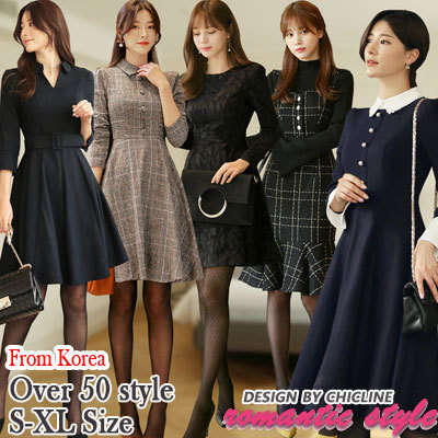35a98de98d [Chicline] 2019 new arrival Korean dress [UP TO 65% OFF - women fashion  Korean Formal Dress