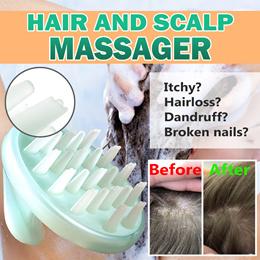 KOREA Silicone Hair scalp comb/ Hair Brush/ Cleans Scalp/ Anti-Dandruff/ HIGH QUALITY/ Shampoo/