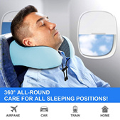 MEMORY FOAM TRAVEL NECK U PILLOW  / TRAVEL Pillow Travel luggage organizer support