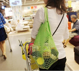 Reusable Grocery Produce Bags Cotton Mesh Ecology Market String Net Shopping Tote Bag Kitchen Fruits