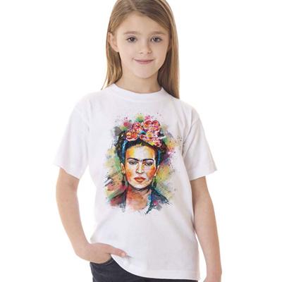 85e05786 2017 Cartoon Mexican Frida Kahlo Kids T Shirt Short Sleeve Girl T-shirt  Children Tee