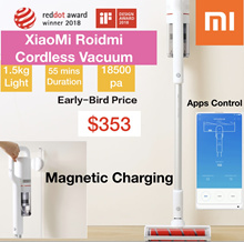 2018 New Cordless Xiaomi Roidmi Vacuum Cleaner Strong 18500Pa 55mins Long Battery Life