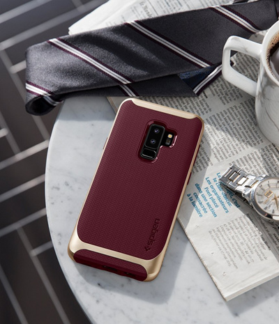 the best attitude dcac1 142af [ SPIGEN]Spigen Neo Hybrid Galaxy S9 Plus Case with Flexible Herringbone  Pattern Protection Reinforced Bumper
