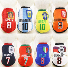 ★ Puppy Clothes ★  dot pet coat Pet  FIFA World Cup Soccer Jersey for Pet Dog Cat VEST basketba