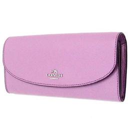 909cc53026e9 Coach purse COACH outlet Cross Grain leather slim envelope long wallet  F54009 SV   LL
