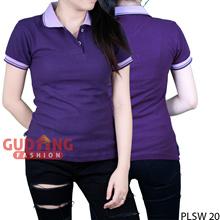 Kaos Kerah Polo Shirt Basic Wanita - PLSW 20