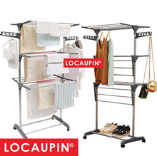 Locaupin Foldable Drying Rack Clothes Rack (3 Layer)