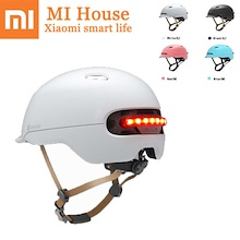Newest Xiaomi Smart4u Waterproof Bicycle Smart Flash Helmets Back Light Riding Mountain Road Scooter