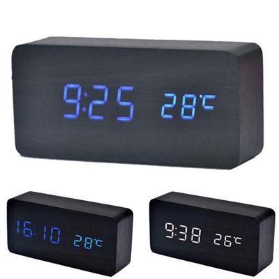 LED Sounds Control clock electronic Digital Alarm Clock desktop clock