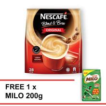 NESCAFE Blend and Brew Original 28 s Free Milo 200g