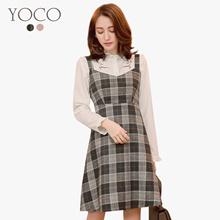 YOCO - Check Pinafore Dress-172695-Winter