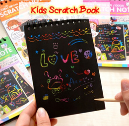 💖 Colorful Kids Scratch Note Book 💖 Party Birthday Gifts Goodie Bags/ Stationary/ Present/ Drawing