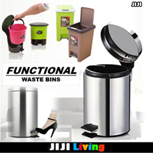 SOFT CLOSING! Premium Steel Waste Bins! ★Thrash/Rubbish Bins ★Storage ★Organizer ★Box ★Fast Delivery