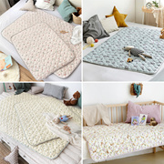 [Prielle] BABY QUILTED PAD [100% COTTON SURFACE AND WATERPROOF BOTTOM] CHANGE DIAPER MAT PLAY MAT