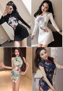 ♥ Premium New Chinoiserie Cheongsam Dress ♥ S to L ♥ Latest Designs
