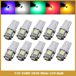 2X T10 SMD 5050 5 LED W5W 194 168 921 2825 led instrument light Wedge Auto Car Bulb LAMP