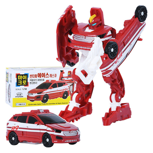 MICRO Santafe ACE Transformer Rescue Car to Robot Toy Car