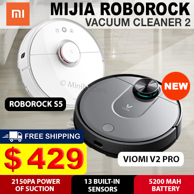 (▼44%) [Promotional Offer] Xiaomi MiJia RoboRock Robot Vacuum Cleaner 2  with Local Warranty