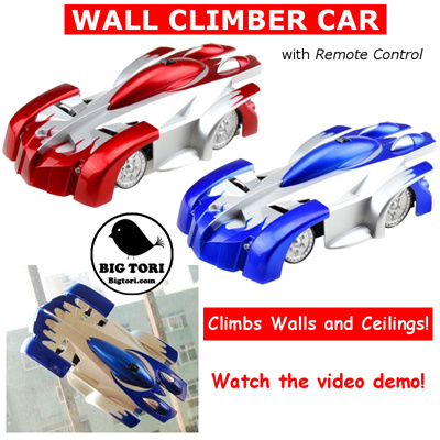 Wall Climbing Car Remote Control Climbs Walls And Most Vertical Surfaces