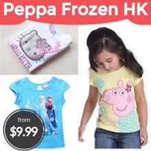 Frozen★Peppa Pig★Hello Kitty★Tee★girl/Children★Youkai Watch/Long sleeve/short sleeve/sleeveless
